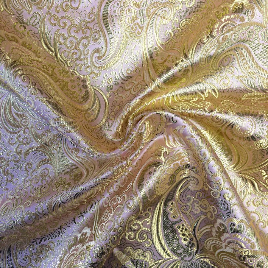 Gold Paisley Metallic Brocade Fabric Fabric