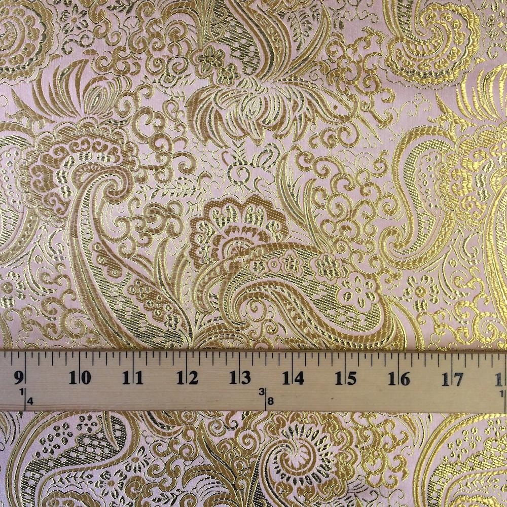 "20/""SILVER COLOUR PAISLEY METALLIC BROCADE FABRIC 58/"" WIDE cheapest"