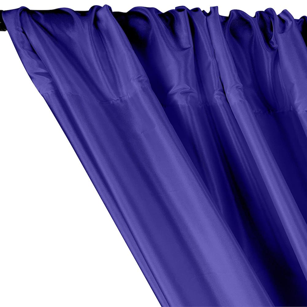 Polyester Taffeta Lining Rod Pocket Curtains - Royal Blue