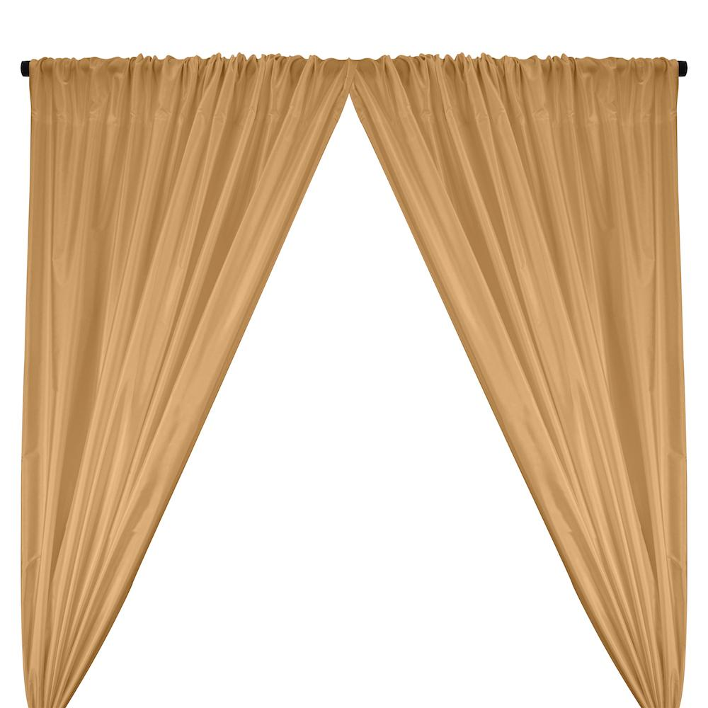 Polyester Taffeta Lining Rod Pocket Curtains - Sand