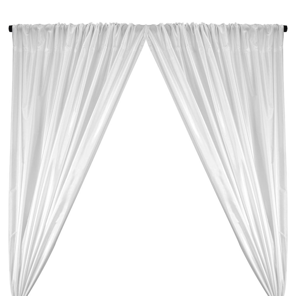Polyester Taffeta Lining Rod Pocket Curtains ( All Colors Available) - White