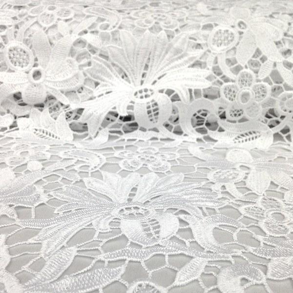 Bell Flower Guipure French Venice Lace Fabric