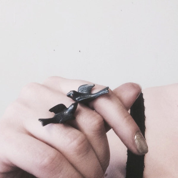 Grey Dove Ring, Sterling Silver