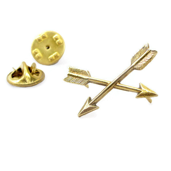 Best Arrows Crossed Lapel Pin