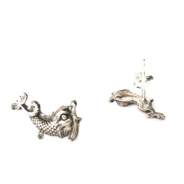 Mythic Creature Dolphin Earrings, Small