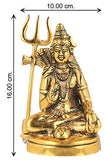 Load image into Gallery viewer, JaipurCrafts Premium White Metal Cold Cast Lord Shiva Idol as Gifts (Gold, 6 Inch)