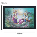 Load image into Gallery viewer, JaipurCrafts Radha Krishna Large Framed UV Digital Reprint Painting (Wood, Synthetic, 36 cm x 51 cm)
