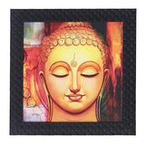 Load image into Gallery viewer, JaipurCrafts Gautam Buddha Framed UV Digital Reprint Painting (Wood, Synthetic, 26 cm x 26 cm)