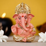 Load image into Gallery viewer, Webelkart Gold Plated Lord Ganesha for Car Dashboard Statue Ganpati Figurine God of Luck & Success Diwali Gifts Home Decor (Size: 8.25 x 3.50 x 5.50 cm)