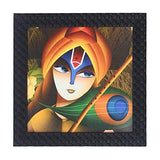 Load image into Gallery viewer, JaipurCrafts Radha Krishna Framed UV Digital Reprint Painting (Wood, Synthetic, 26 cm x 26 cm)