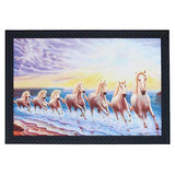 Load image into Gallery viewer, JaipurCrafts Running Horses Large Framed UV Digital Reprint Painting (Wood, Synthetic, 36 cm x 51 cm)