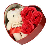 Load image into Gallery viewer, JaipurCrafts WebelKart Fabric Heart Shaped Box with Teddy and Roses