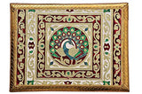 Load image into Gallery viewer, JaipurCrafts Wood Pooja Chowki (12 x 18 x2 inch, Multicolour)