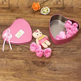 Load image into Gallery viewer, WebelKart Unique Valentine Day Gift for Wife | Special Valentine's Day Gift for Lover | Valentine's Day Gift for Lover | Valentine Day Gift for Wife (Heart Shaped Box with Teddy and Roses)