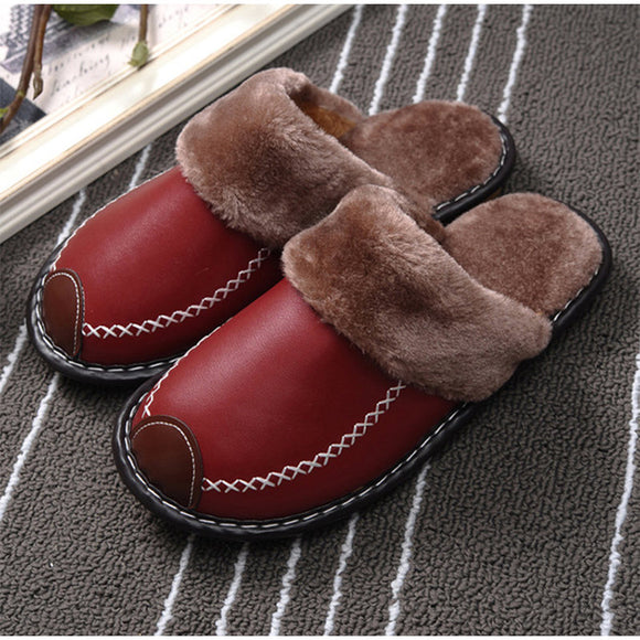 Women's Slippers Winter Home Soft Floor Slippers For Men Female Indoor Plush Sewing Women Flat Shoes 2020 Couple Footwear Casual
