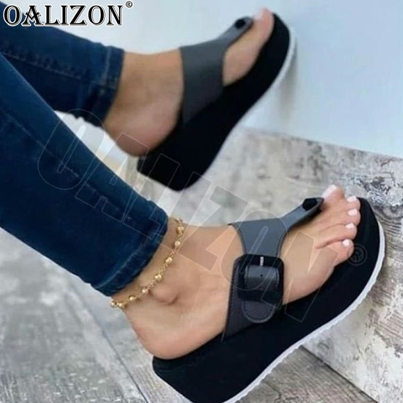 Summer 2021 Women's Sandals Casual Wedges High Heels Shoes Flip Flops Women Platform Strape Slippers Sport Sandals Shoes Slides