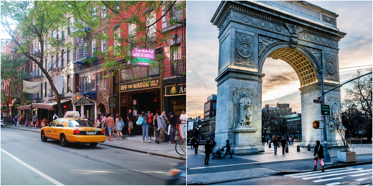 The Greenwich Village and Washington Square Arch
