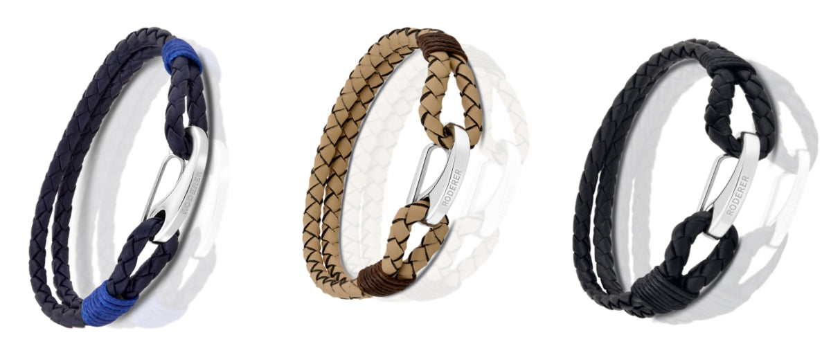 Roderer Elio Leather Mens Bracelets