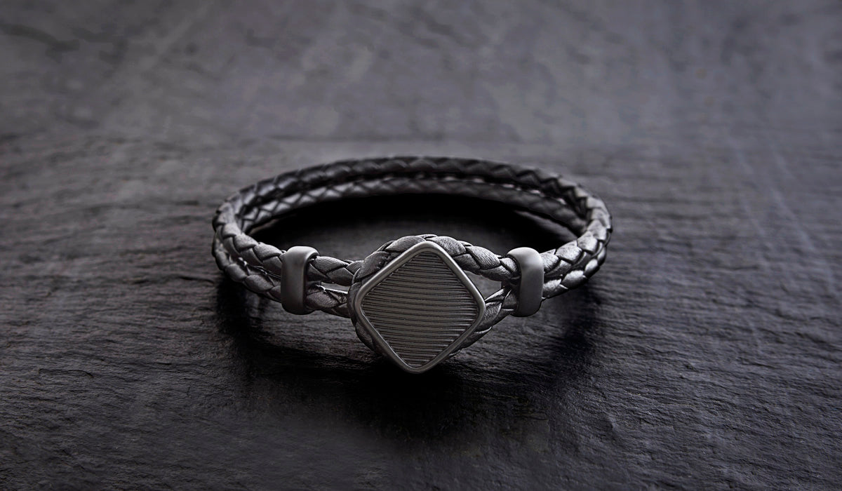 Roderer Luca Mens Leather Bracelet