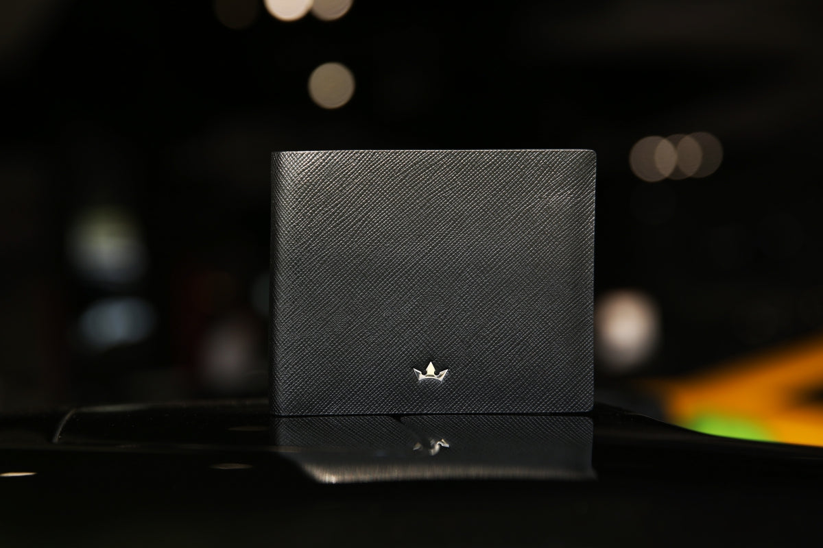 Roderer Saffiano Leather Trophy Wallets 8 Card