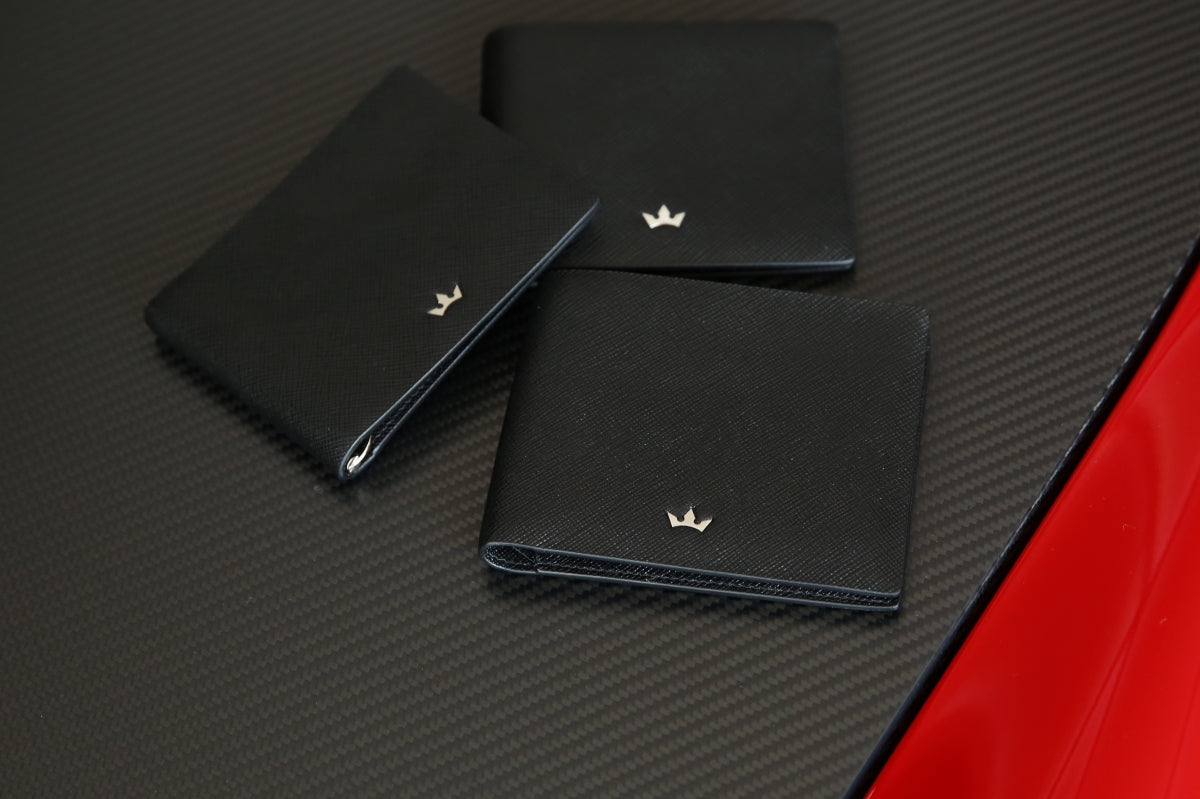 Roderer Saffiano Leather Trophy Wallets
