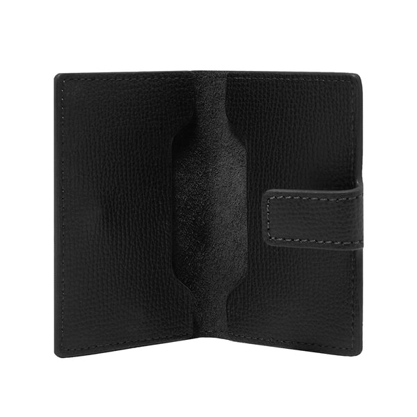 AWARD CLIP CARD HOLDER > ITALIAN LEATHER BLACK