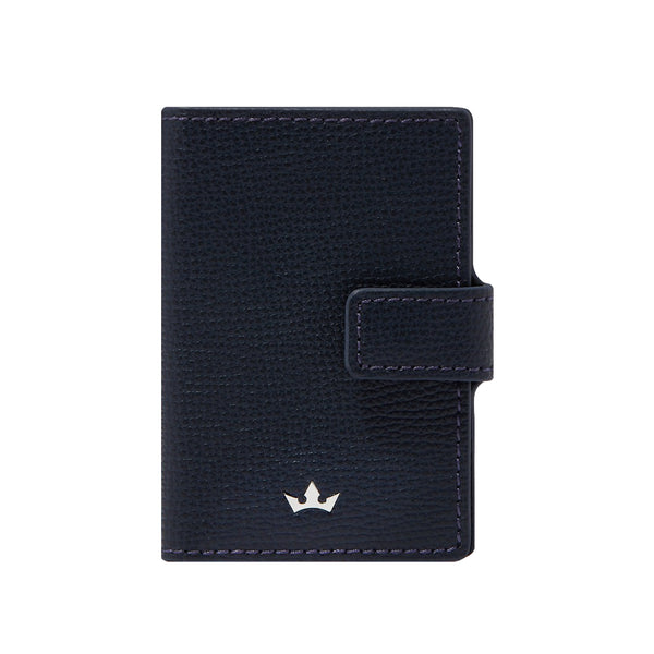 AWARD CLIP CARD HOLDER > ITALIAN LEATHER NAVY BLUE