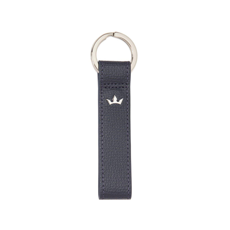 AWARD LOOP KEY RING > ITALIAN LEATHER NAVY BLUE