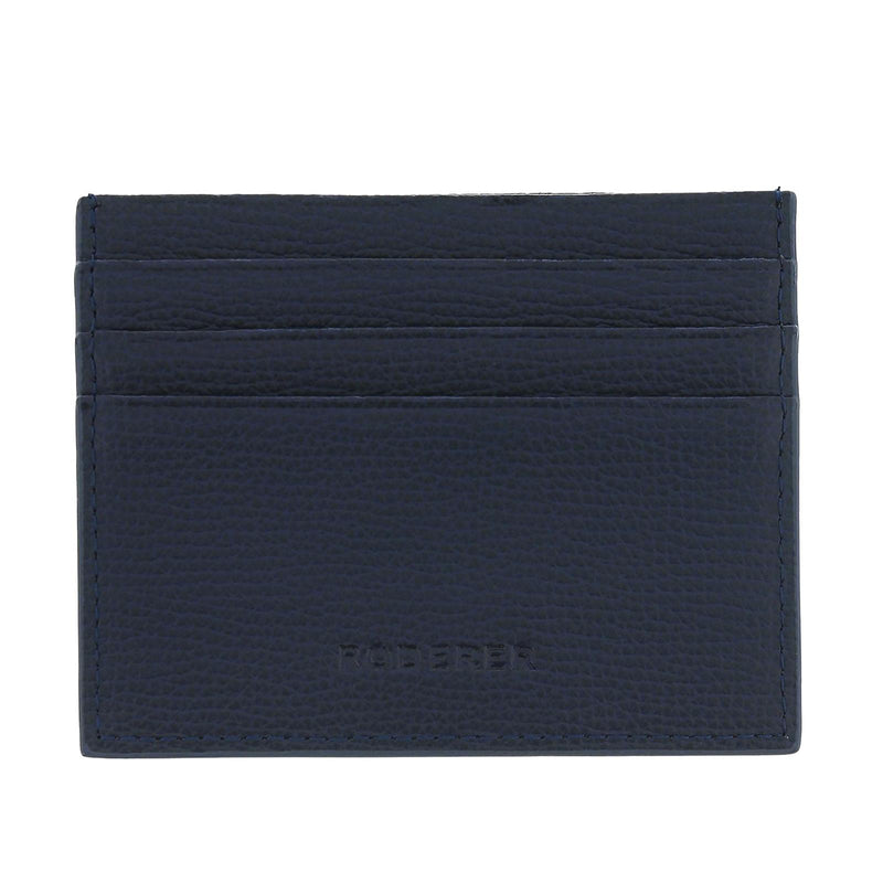 AWARD 6CC CARD HOLDER > ITALIAN LEATHER NAVY BLUE