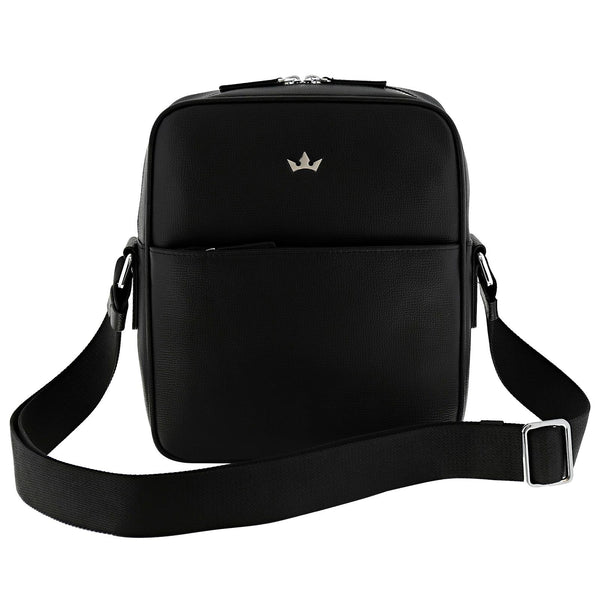 AWARD MESSENGER BAG > ITALIAN LEATHER BLACK