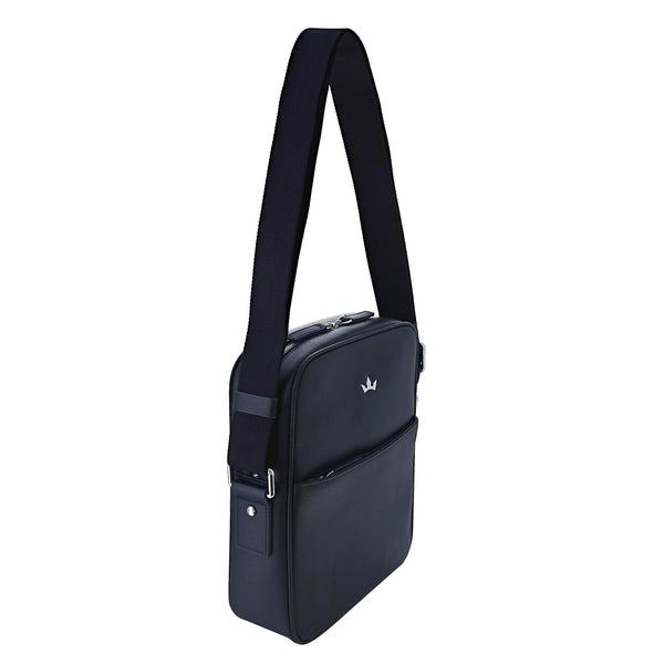 AWARD MESSENGER BAG > ITALIAN LEATHER NAVY BLUE