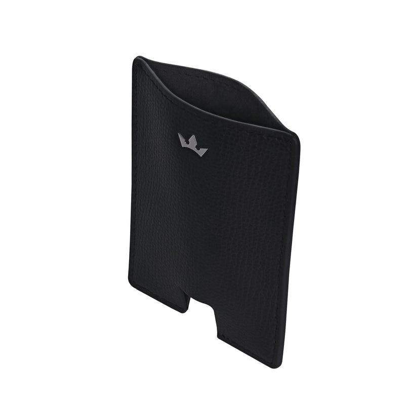 AWARD MINI CARD HOLDER > ITALIAN LEATHER BLACK