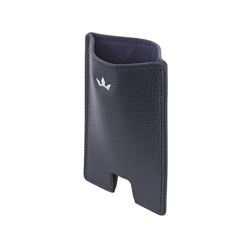 AWARD MINI CARD HOLDER > ITALIAN LEATHER NAVY BLUE