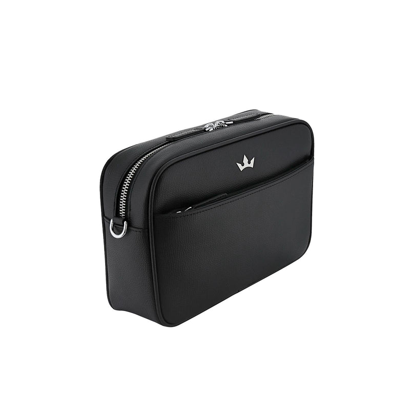 AWARD 4-IN-1 MESSENGER BAG > ITALIAN LEATHER BLACK