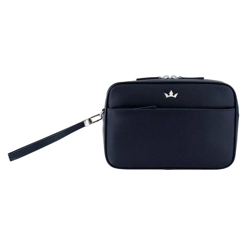 AWARD 4-IN-1 MESSENGER BAG > ITALIAN LEATHER NAVY BLUE