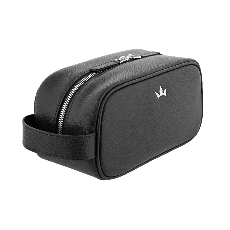 AWARD WASH BAG > ITALIAN LEATHER BLACK