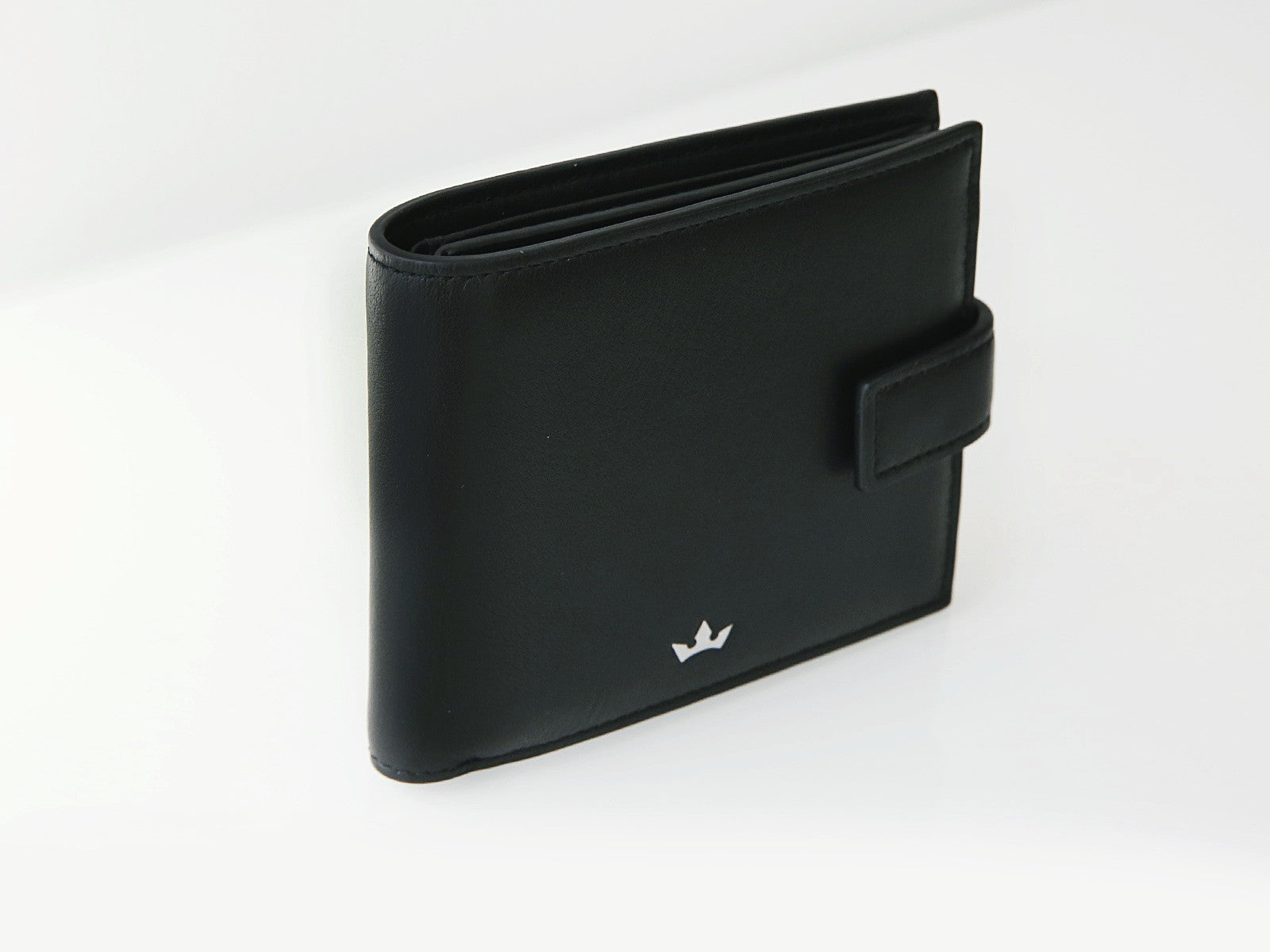 Roderer Bifold Wallet 12 Card With Strap Roma Black