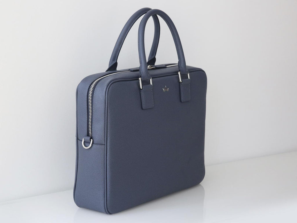 Roderer Single Compartment Business Bag Milano Blue