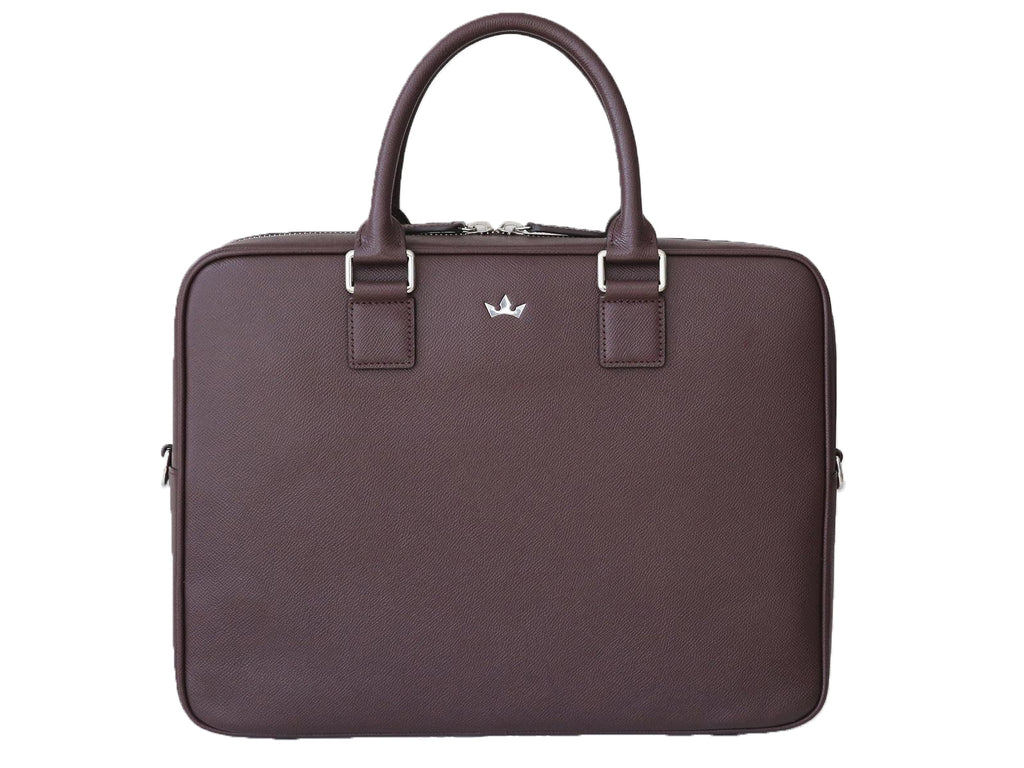 Roderer Single Compartment Business Bag Milano Burgundy