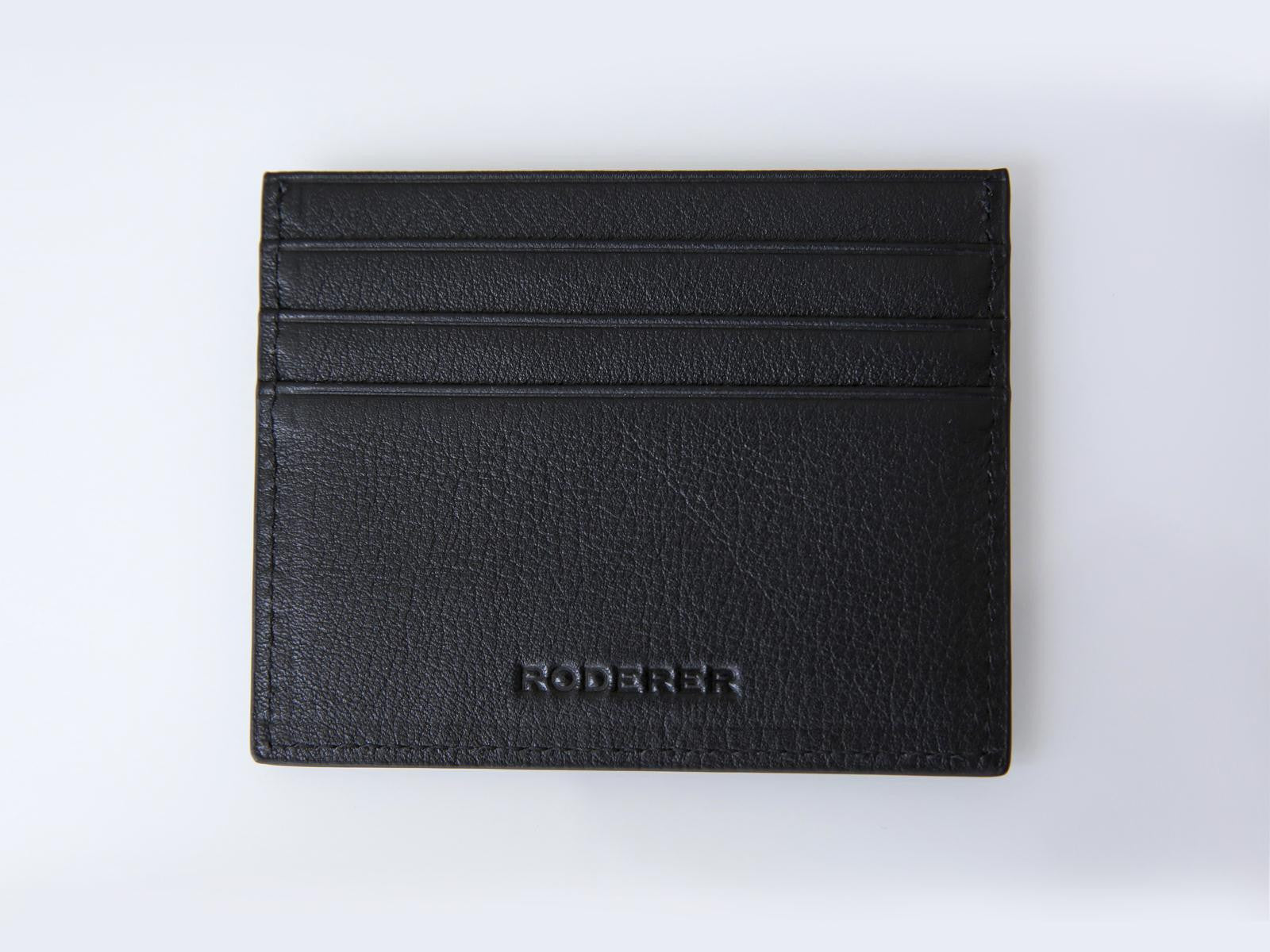 Roderer Card Holder 6 Card Roma Black