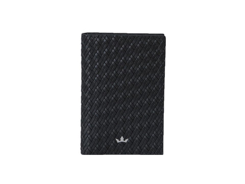 Bifold 6 Card Trophy Saffiano Black Money Clip Wallet