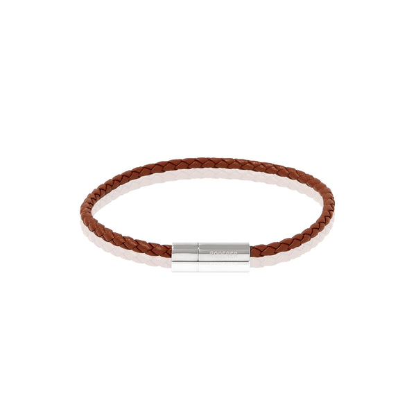 GIANNI BRACELET > STERLING SILVER CLASP BROWN