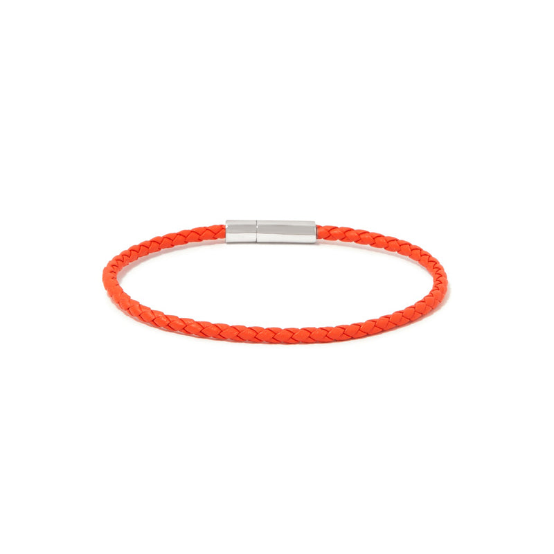 GIANNI BRACELET > STERLING SILVER CLASP ORANGE