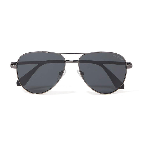 JAMES AVIATOR POLARIZED SUNGLASSES > GUNMETAL / BLACK