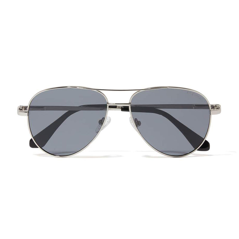 JAMES AVIATOR POLARIZED SUNGLASSES > SILVER / GREY