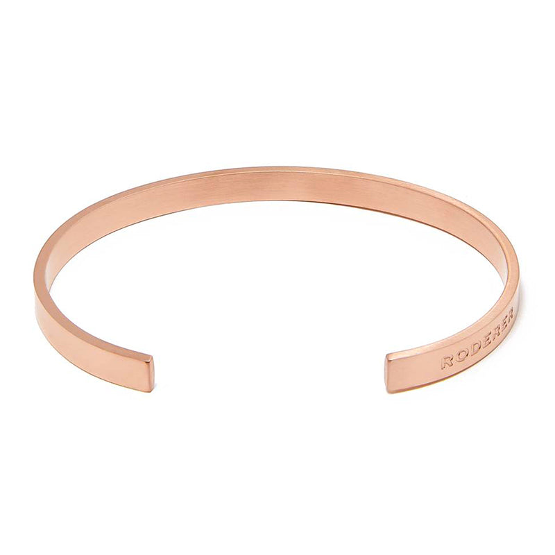 LORENZO BRACELET > STAINLESS STEEL CUFF ROSE GOLD