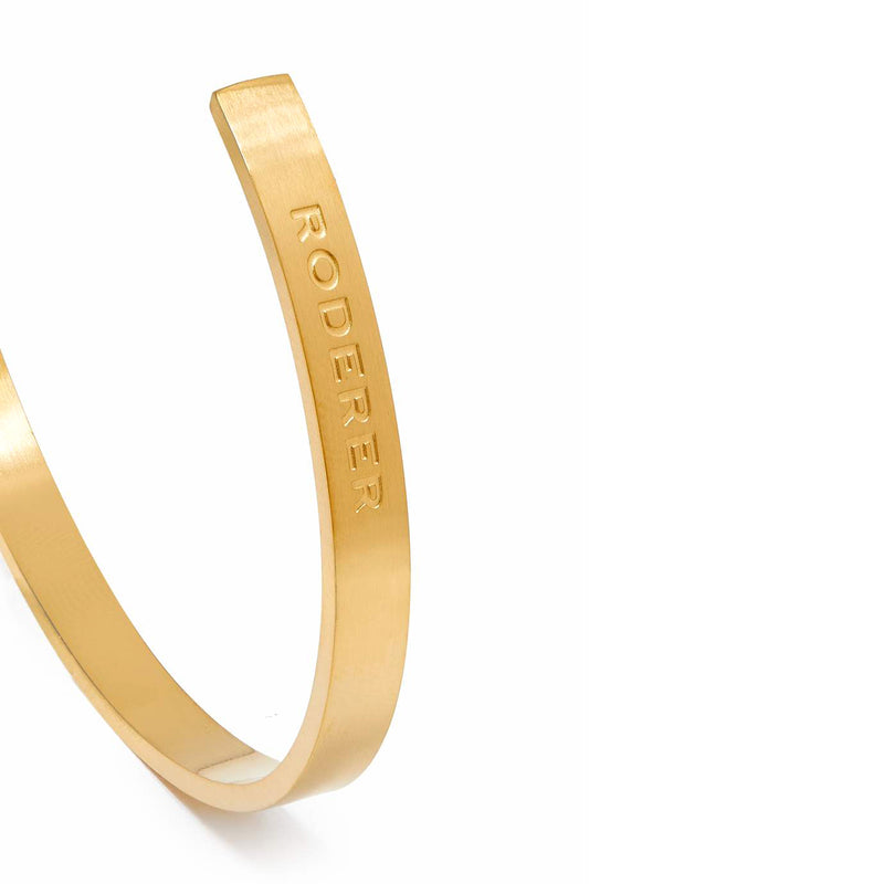 LORENZO BRACELET > STAINLESS STEEL CUFF YELLOW GOLD