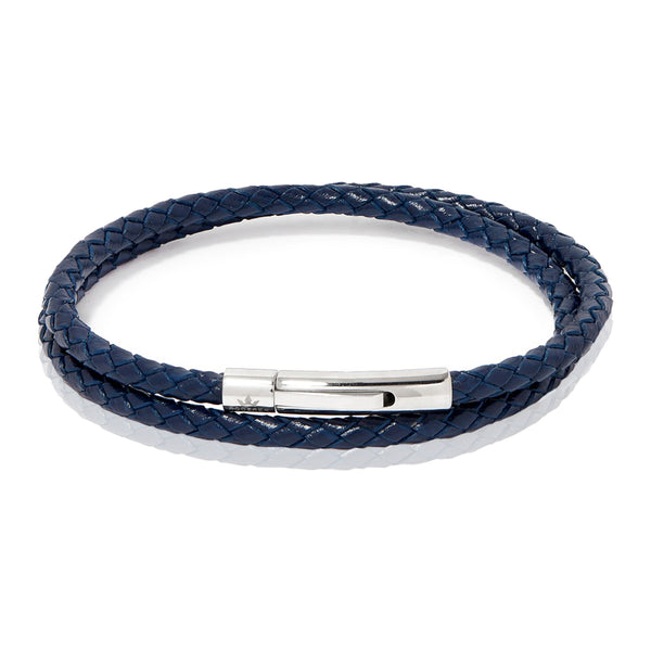 MATTEO DOUBLE TOUR BRACELET > NAVY BLUE