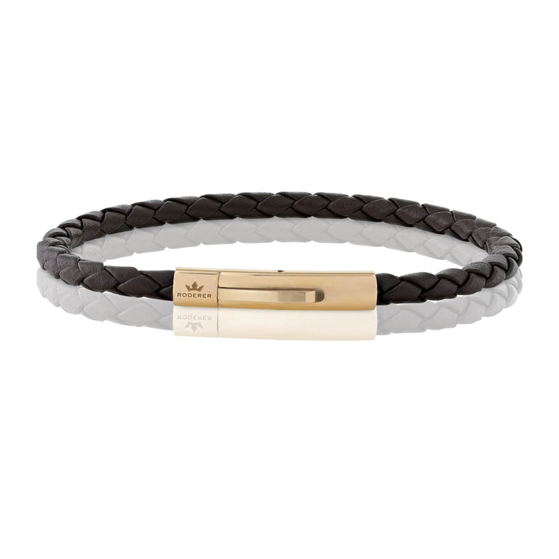 MATTEO BRACELET > BROWN ON ROSE GOLD