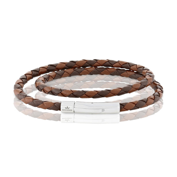 MATTEO DOUBLE TOUR BRACELET > BROWN / BROWN